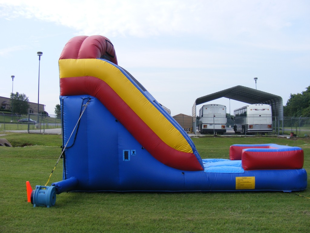 giant water slide-side view